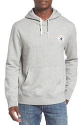 Converse Men's 'Core' Logo Patch Hoodie Vintage Grey Heather