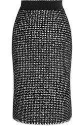 Dolce And Gabbana Tweed Pencil Skirt Black