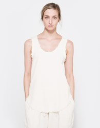 Black Crane Center Seam Tank Cream