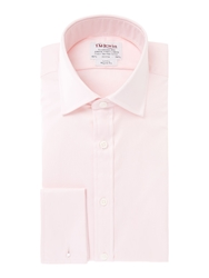 T.M.Lewin Twill Double Cuff Regular Fit Shirt Pink