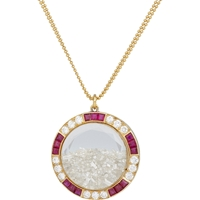 Renee Lewis Diamond Ruby And Gold 'Shake' Pendant Necklace