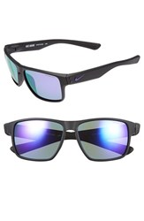 Women's Nike 'Mavrk' 59Mm Sunglasses Matte Black Electro Purple