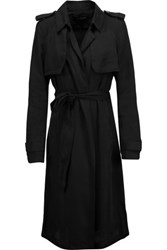 W118 By Walter Baker Marley Twill Trench Coat Black