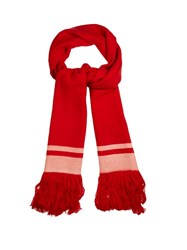 Isabel Marant Carlyn Fringed Cashmere Scarf Red