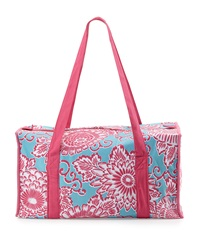 Malabar Bay Spring Bloom Canvas Duffel Bag Aqua