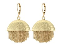Vince Camuto Half And Half Chain Fringe Earrings Antique Gold Earring