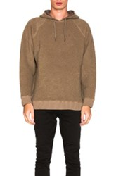 Robert Geller Textured Hoodie In Brown