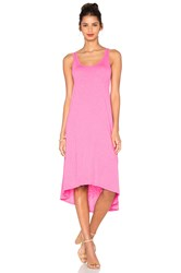 Velvet By Graham And Spencer Gendra Cotton Slub Tank Dress Pink