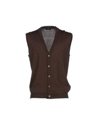 Boss Black Cardigans Dark Brown