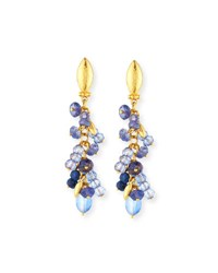 Gurhan Blue Rain Flurries Cluster Drop Earrings