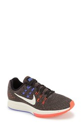 Women's Nike 'Air Zoom Structure 19' Running Shoe Anthrcite Orange Chalk