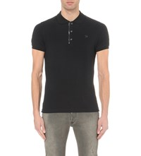 Diesel T Kalar Stretch Cotton Polo Shirt Black