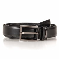 Dents Mens Plain Leather Belt Black
