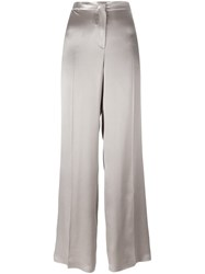 Alberta Ferretti Straight Leg Trousers Nude And Neutrals