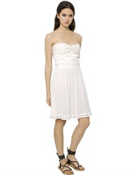 Etoile Isabel Marant Strapless Cotton Gauze Bustier Dress