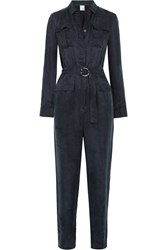 Iris And Ink Military Cupro Blend Jumpsuit Blue