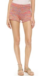 Bcbgmaxazria Knit Shorts Marbled Orange Glow