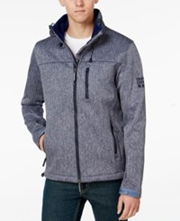 Superdry Men's Windtrekker Soft Shell Coat Navy Grit Navy
