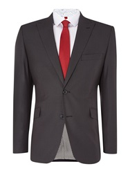 Lambretta Check Notch Collar Regular Fit Suit Dark Grey