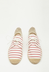 Forever 21 Striped Lace Up Espadrilles