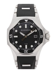 Givenchy Five Shark Stainless Steel Watch Black And Silver