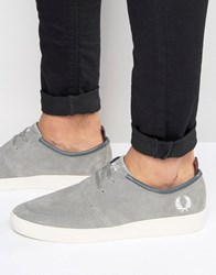 Fred Perry Shields Suede Trainers Grey