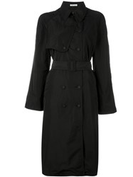 Tomas Maier Belted Trench Coat Black