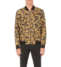 Versace Baroque Print Shell Jacket Yellow