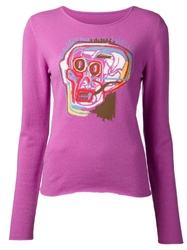Lucien Pellat Finet 'Basquiat Intarsia Head' Pullover Pink And Purple