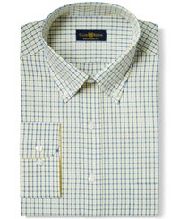 Club Room Estate Wrinkle Resistant Yellow Parker Check Dress Shirt Only At Macy's