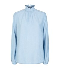 Set High Neck Chambray Top Female