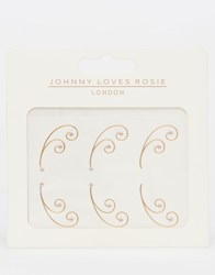 Johnny Loves Rosie Metallic Eye Tattoos Gold
