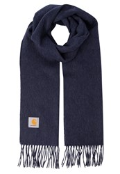 Carhartt Wip Clan Scarf Navy Heather Mottled Dark Blue