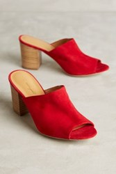 Anthropologie Miss Albright Maroccana Mules Red 38.5 Euro Heels