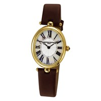 Frederique Constant Women's Classic Art Deco Oval Watch Brown Gold