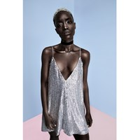 Mcma London Sequin Party Dress Silver