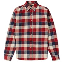 Beams Plus Button Down Viyella Block Check Shirt Multi