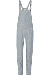 Rag And Bone Cotton Chambray Overalls
