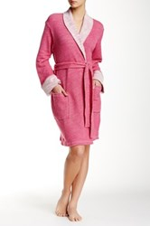 Natori Shawl Collar Wrap Pink