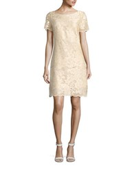 West 22 Lace Shift Dress Champagne