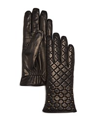 Bloomingdale's Quilted Gloves Black