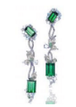 Anna Hu Haute Joaillerie Athena's Laurel Collection Athena's Laurel Earrings In Green Tourmaline