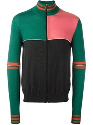 Paul Smith Panelled Zip Up Jumper