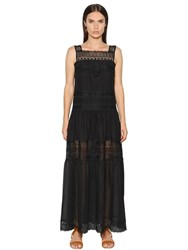 Charo Ruiz Cotton Voile And Lace Dress