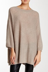 14Th And Union Short Sleeve Cashmere Sweater Beige