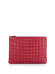 Mcm Pyramid Studded Leather Pouch Scooter Red
