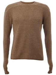 Rick Owens Crew Neck Jumper Brown