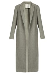 Adam By Adam Lippes Notch Lapel Cashmere And Wool Blend Coat Light Grey