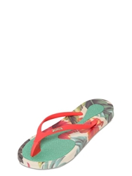 Ozify 20Mm Hawaiian Vintage Pvc Flip Flops Green Red