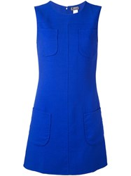 Versace Vintage Sleeveless A Line Dress Blue